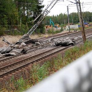 Olycka vid stambanan i Riihimäki 29.8.2916