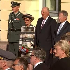 Norska kungaparet på statsbesök