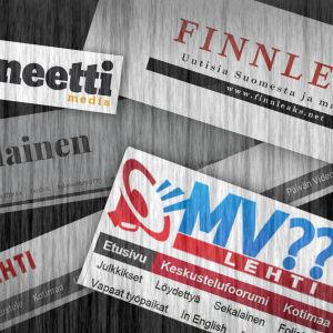 Skärmdumpar av olika nyhetssajter med tvivelaktigt eller lögnaktigt innehåll