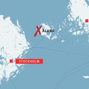 Karta över Åland.