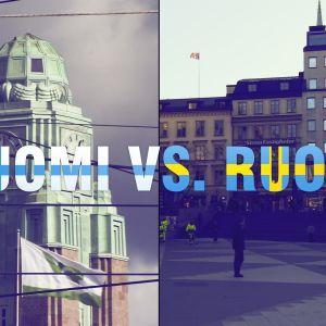 maisema Helsingistä ja Tukholmasta