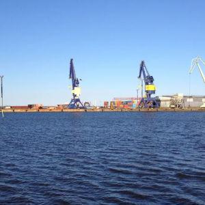 Lyftkranar i Björneborgs hamn