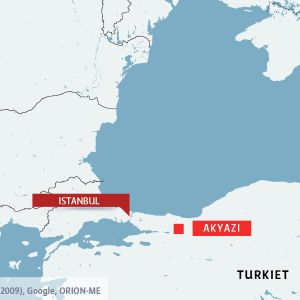 Karta över orten Akyazi i Turkiet.