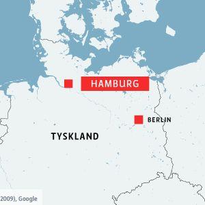 Karta över Hamburg.