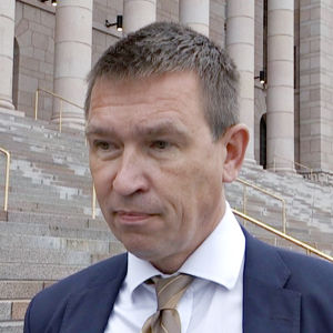 Sannfinländarnas riksdagsledamot Tom Packalén.