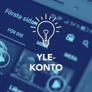 Yle-kontot i en mobil.