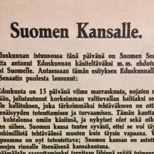 Suomen itsenäisyysjulistus.