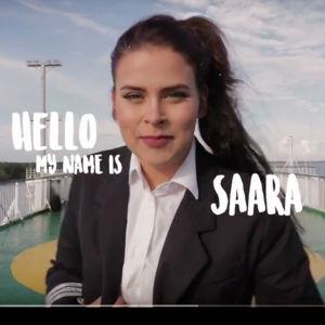 Skärmdump av Saara Maria Forsberg från en Youtube-video