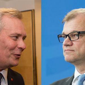 Bidcollage: Antti Rinne och Juha Sipilä