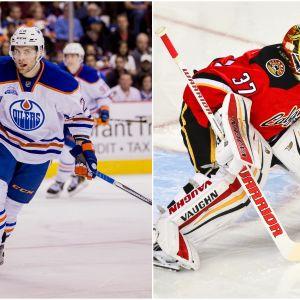 Iiro Pakarinen i Edmonton (till vänster) och Joni Ortio i Calgary (till höger).