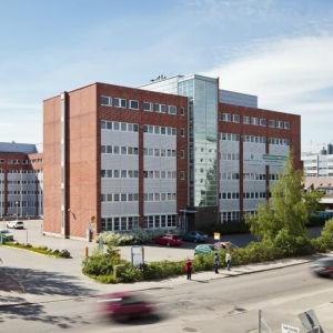 """""""Sportens hus"""" på Gjuterivägen 10 i Helsingfors."""