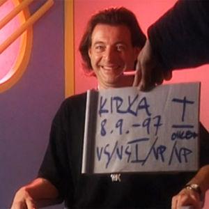 Kirka haastattelussa 1997.