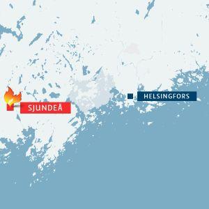 Brand i Sjundeå