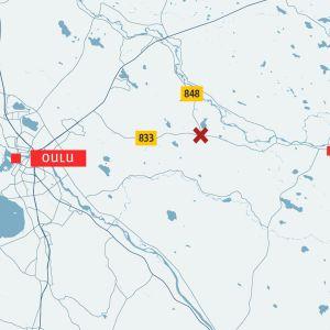 Kartta Oulu Ylikiiminki