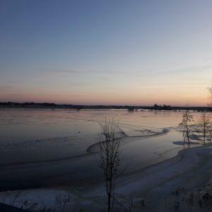 Tulviva Kokemäenjoki.