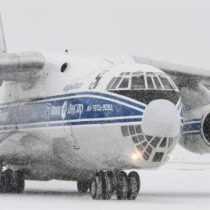 Isopandat saapuvat Suomeen venäläisellä Iljushin IL76 -rahtikoneella torstaina 18. tammikuuta.