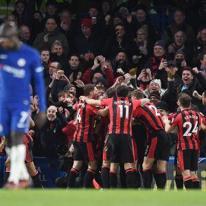 AFC BOurnemouth juhlii maalia Chelseaa vastaan.