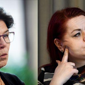SuPerin puheenjohtaja Silja Paavola ja Tehyn puheenjohtaja Millariikka Rytkönen