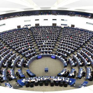 Euroopan parlamentti istunnossaan Strasburgissa, Ranskassa.