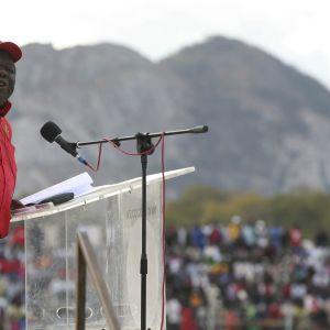 Morgan Tsvangirai kampanjoi vuonna 2013 Zimbabwessa.