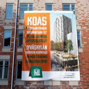 Kankaantorniin rakentuu 117 opiskelija-asuntoa, pääosin yksiöitä.