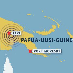 Papua-Uusi-Guinean kartta.