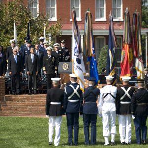 Myer-Henderson Hall Obaman vierailun aikaan vuonna 2011.