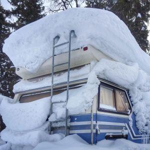 Lunta on paljon Rukalla maaliskuussa 2018.
