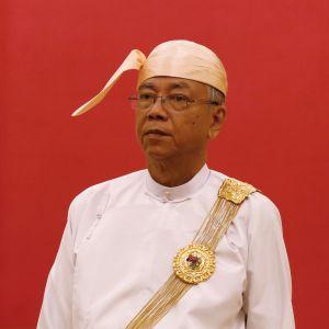 Myanmarin presidentti Htin Kyaw.
