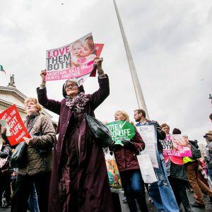 Mielenosoitus Dublinissa.