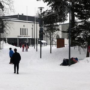 Mankolan koulu Jyväskylässä.