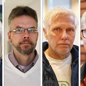 Jaana Karrimaa, Timo Oja, Olli Sillanpää ja Reima Rantanen.