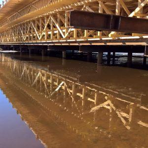 Kuhan siltatyömaa Jalasjärvellä