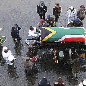 Winnie Mandelan hautajaiset Johannesburgissa Etelä-Afrikassa.