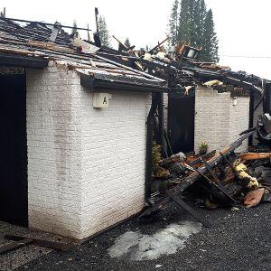 Tulipalossa tuhoutunut rivitalo