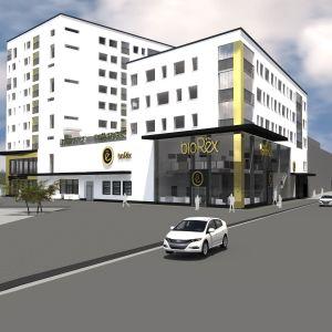 Kauppakatu 6:een Seinäjoella nousee lähivuosina hulppea elokuvateatteri.