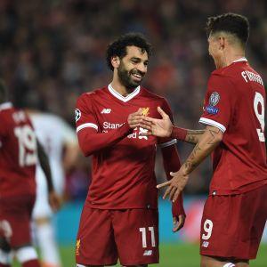 Liverpoolin kaksikko Mohamed Salah ja Roberto Firmino