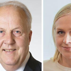 Olavi Ala-Nissilä ja Elina Lepomäki.