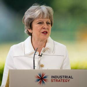 Britannian pääministeri Theresa May. 21.5.2018.