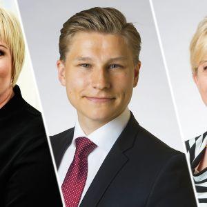 Annika Saarikko, Antti Häkkänen ja Pirkko Mattila