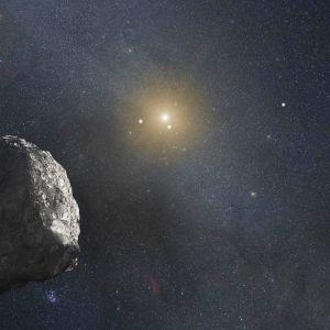 Taiteilijan näkemys Kuiperin vyöhykkeestä.