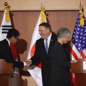Ulkoministerit Pompeo, Kang ja Kono