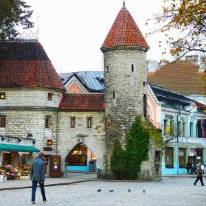 Katunäkymä Tallinnan vanhastakaupungista.