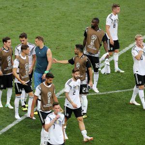 Saksan pelaajia