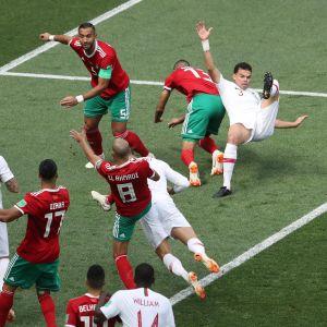 Cristiano Ronaldo puski maalin.