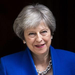 Britannian pääministeri Theresa May.