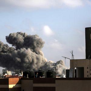 Ilmaiskut tekivät tuhoa Gazassa