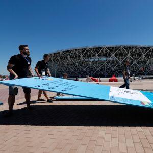 Volgogradin stadion ennen MM-kisoja