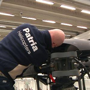 Patria Aviation työllistää Hallissa noin 800 henkilöä.