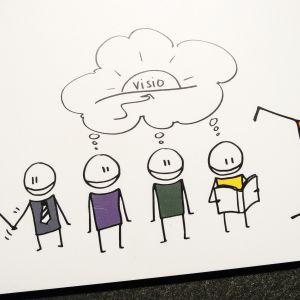 Kaverijohtajuuden visuaalinen innostuskirja kertoo, miten kaverijohtaja toimii.